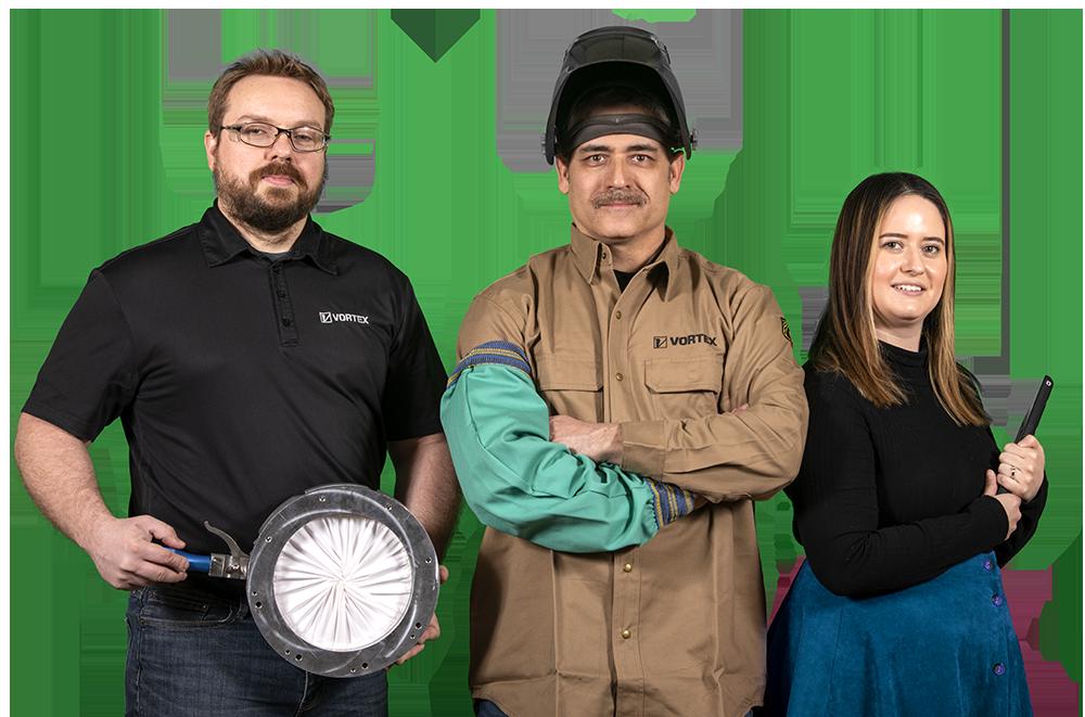 Three Employees from the Vortex team