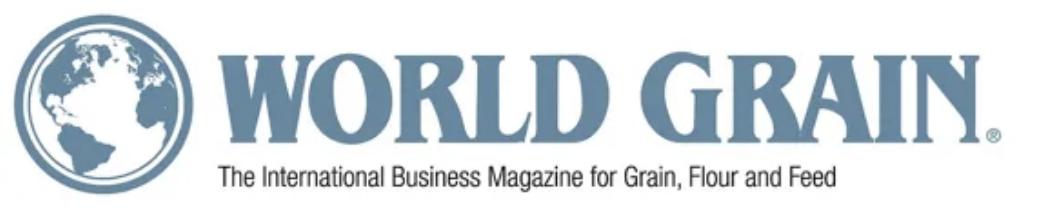 Logo for World Grain, The International Business Magazine for Grain, Flour and Feed.