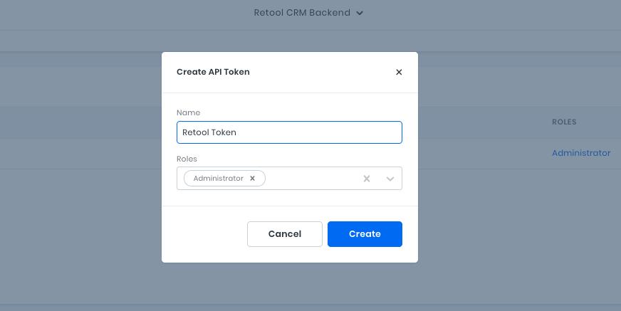Create API Token for the custom CRM