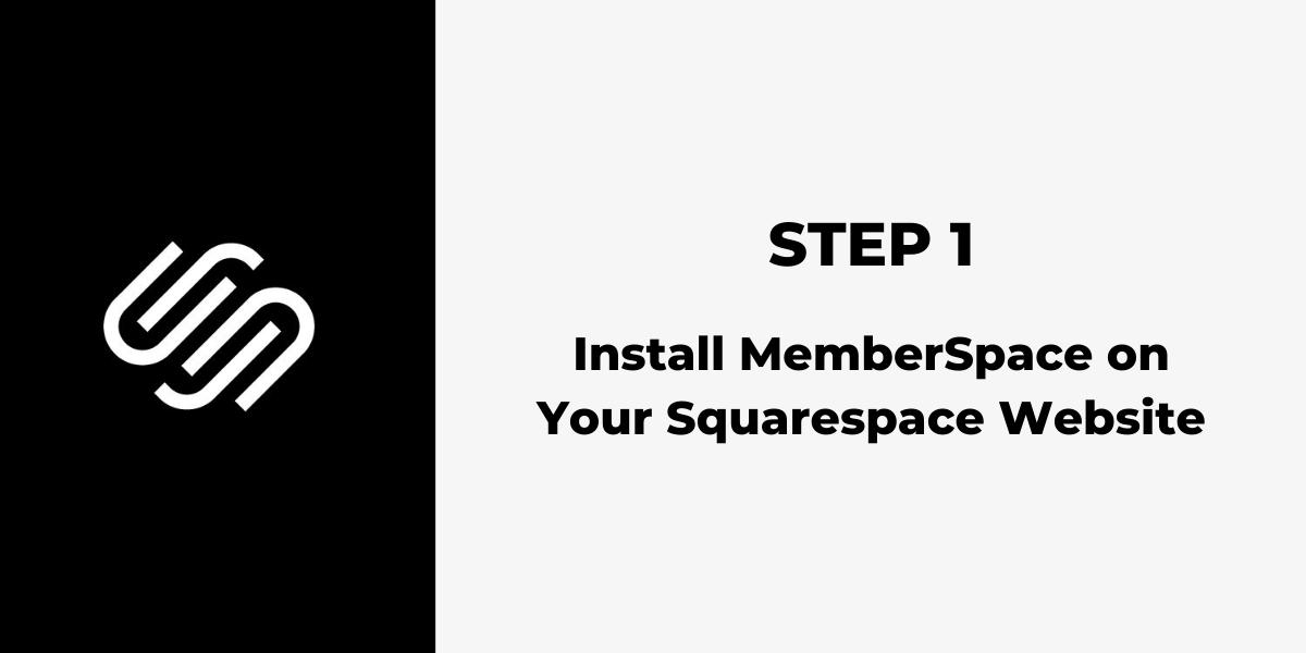 Squarespace Membership Site - Step 1