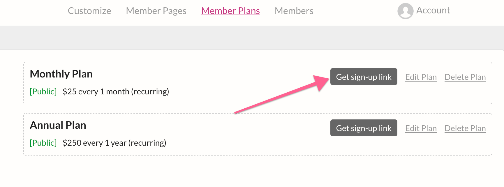 Squarespace Membership Site - Signup/Login Forms
