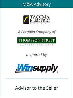 PRAIRIE REPRESENTS TACOMA ELECTRIC SUPPLY INC. IN ITS SALE TO WINSUPPLY INC.