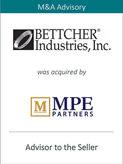 PRAIRIE REPRESENTS BETTCHER INDUSTRIES, INC. IN ITS SALES TO MORGENTHALER PRIVATE EQUITY