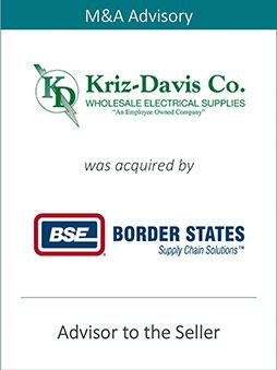 PRAIRIE REPRESENTS KRIZ-DAVIS CO. IN ITS SALE TO BORDER STATES ELECTRIC