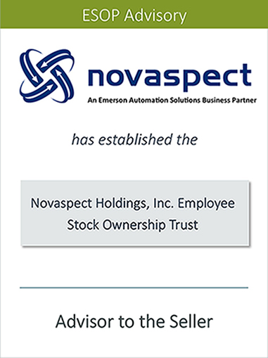 PRAIRIE IS PLEASED TO ANNOUNCE THE SUCCESSFUL SALE OF NOVASPECT HOLDINGS, INC. TO AN EMPLOYEE STOCK OWNERSHIP TRUST