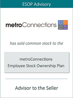 Prairie is Pleased to Announce the Sale of metroConnections, Inc. to an ESOP
