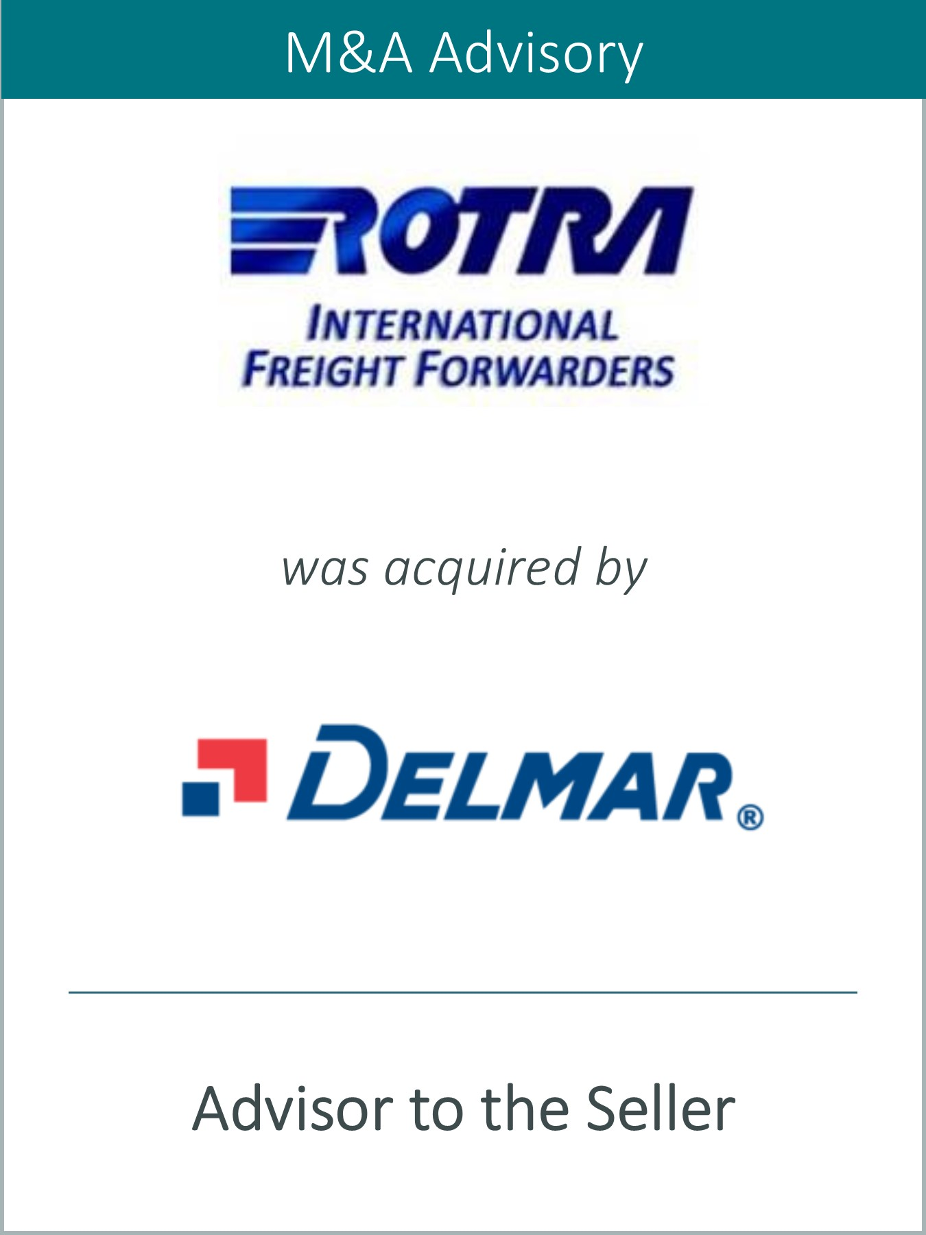 Prairie Represents Rotra, LLC and Rotra Brokerage Services, Inc. in its Sale to Delmar International