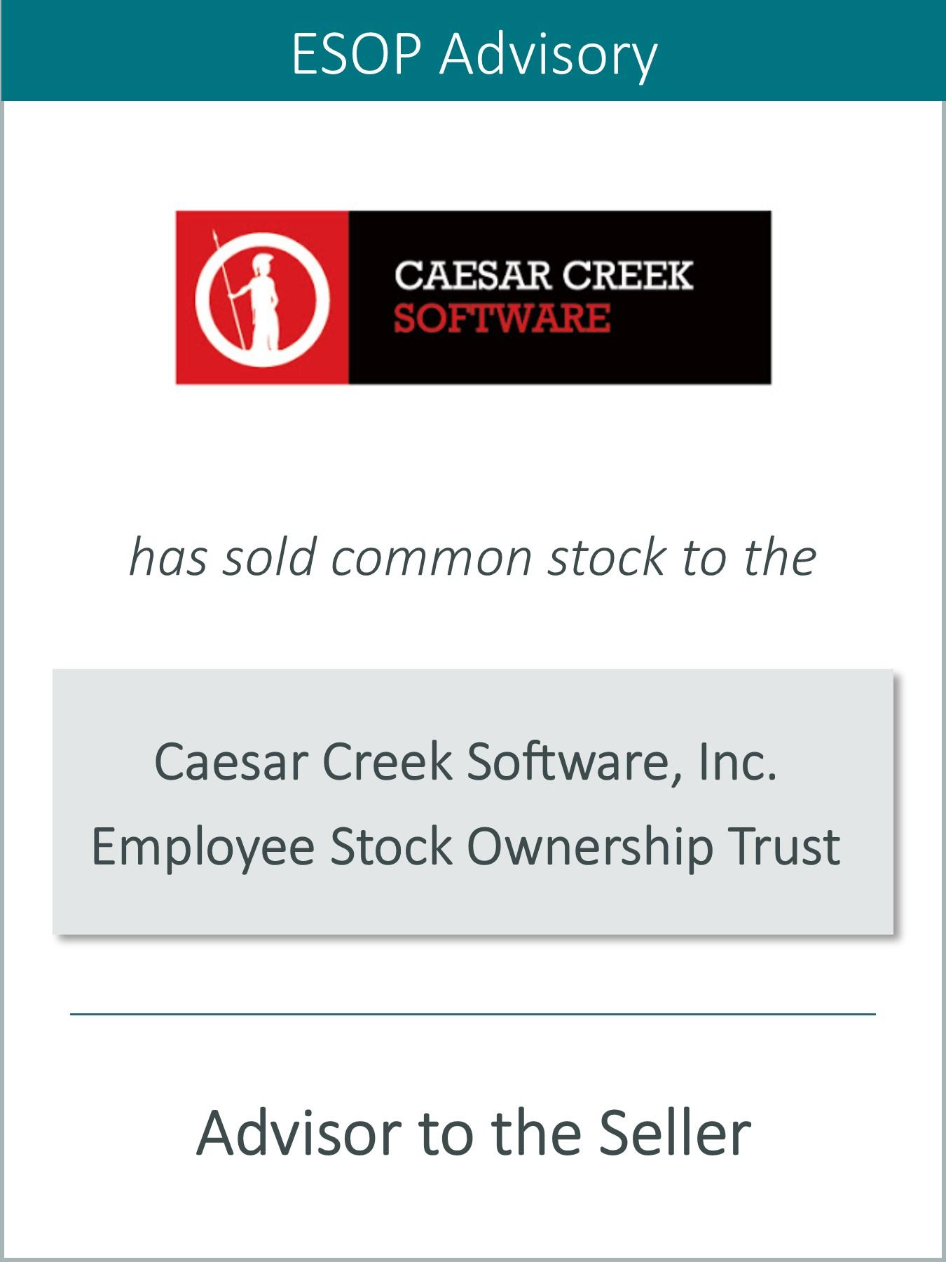 Prairie Announces the Sale of Caesar Creek Software Inc. to an ESOP