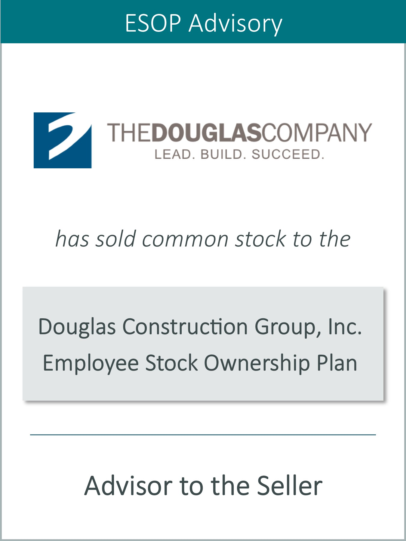 Prairie Represents The Douglas Company in its Sale to an Employee Stock Ownership Plan