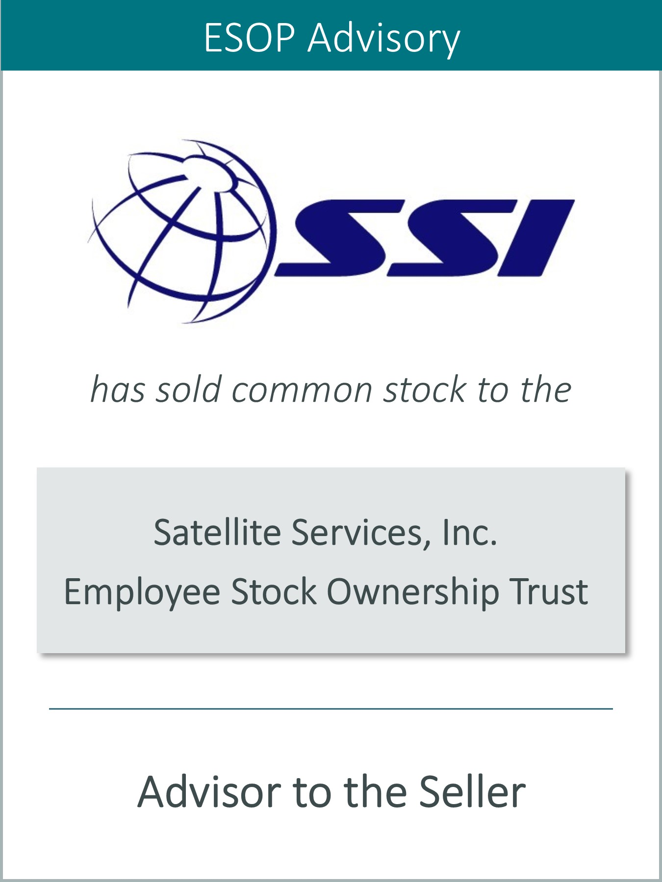 Prairie Represents Satellite Services, Inc. in its Sale to an ESOP