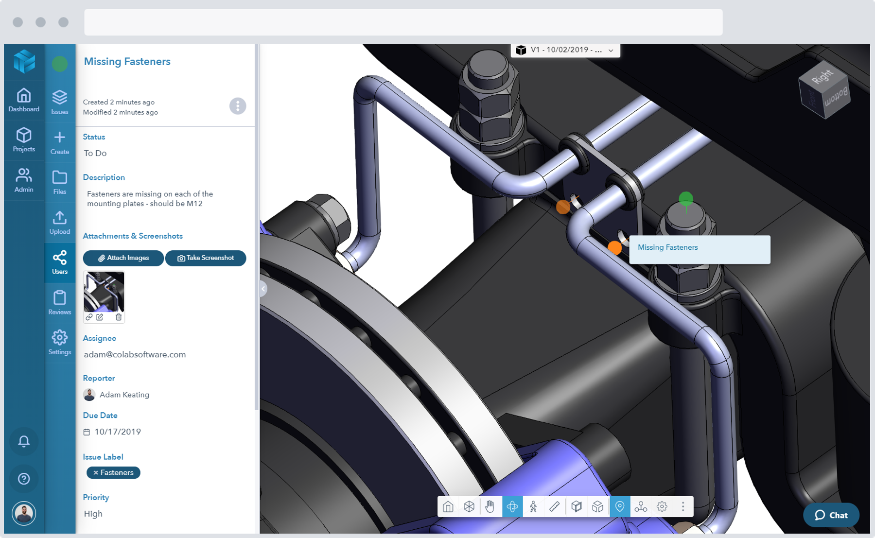 Screenshot of the Gradient program management system for managing the automotive supply chain