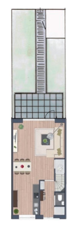 Basis tuin ontwerp zonder parkeerplaats