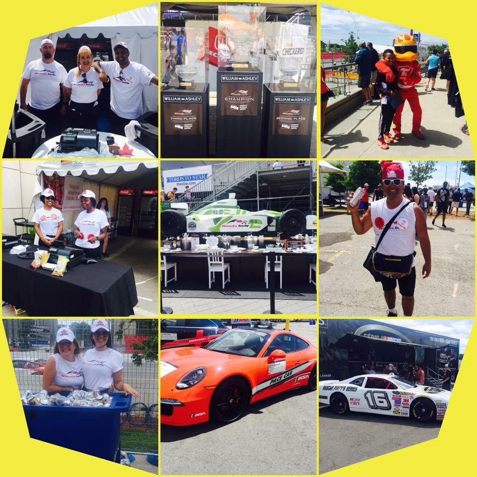 Recruited staff of Staff Shop working at Honda Indy Toronto