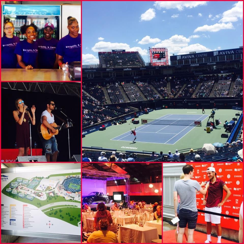 A collage of photos taken from Rogers Cup