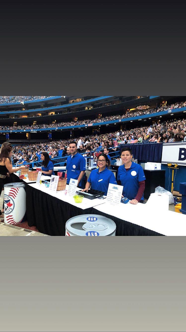 Staff Shop employees at Toronto Blue Jays game