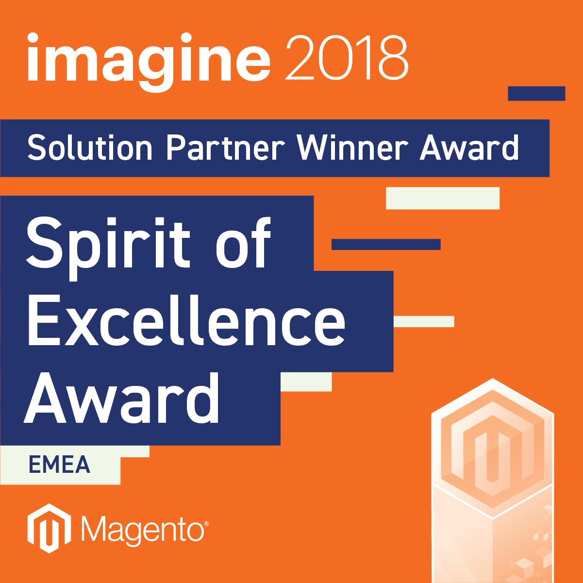 Magento Spirit of Excellence Award Winner