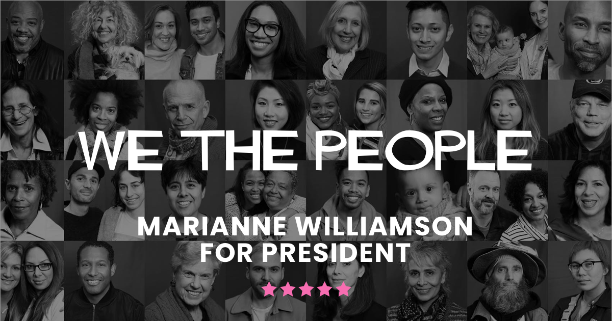 Top News Events Of 2020.Marianne Williamson For President Join The Evolution