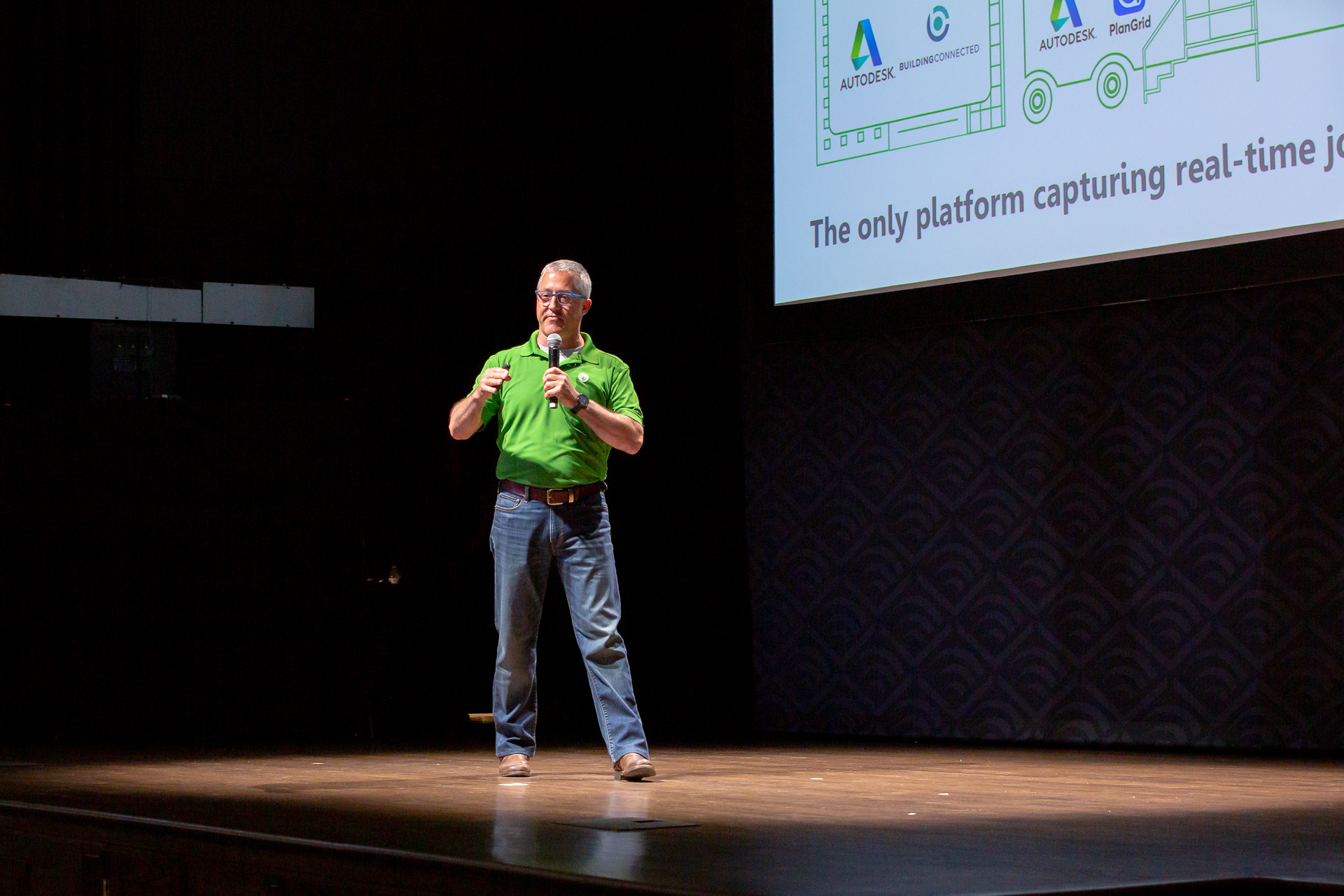 Alec Thomson, founder and CEO of Riskcast, presenting during NVP's July 2019 Demo Day