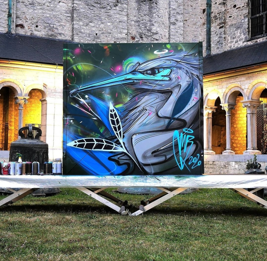 Live painting & initiation au graff - Mr.X