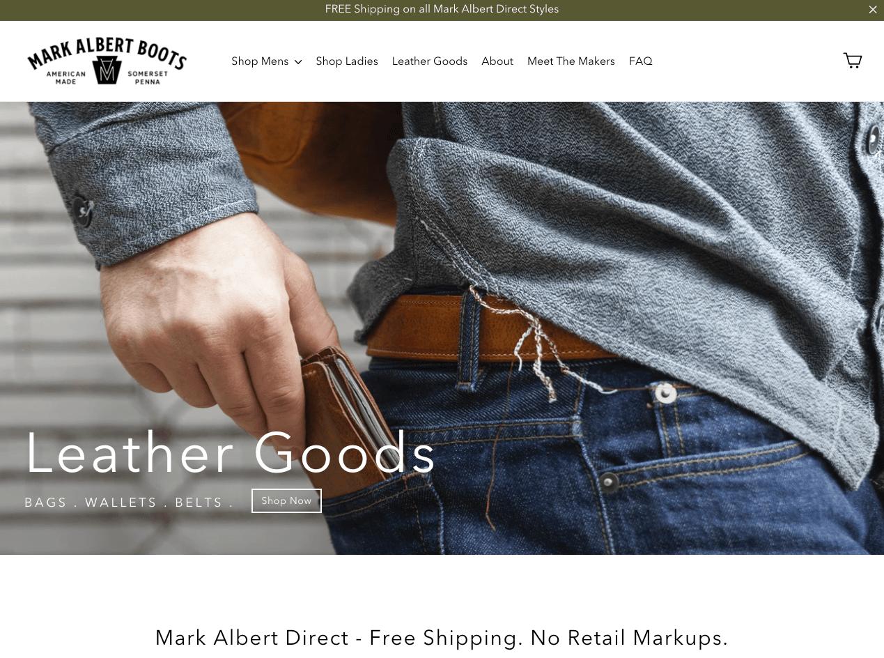mark albert boots' homepage