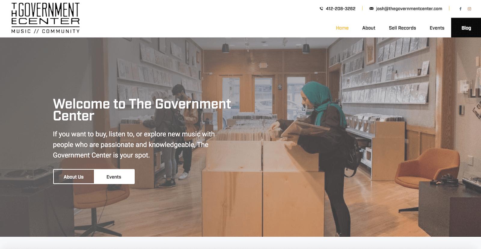 website design for local business