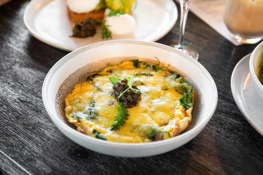 Keto Cheesy Mushroom and Spinach Omelette (GF)