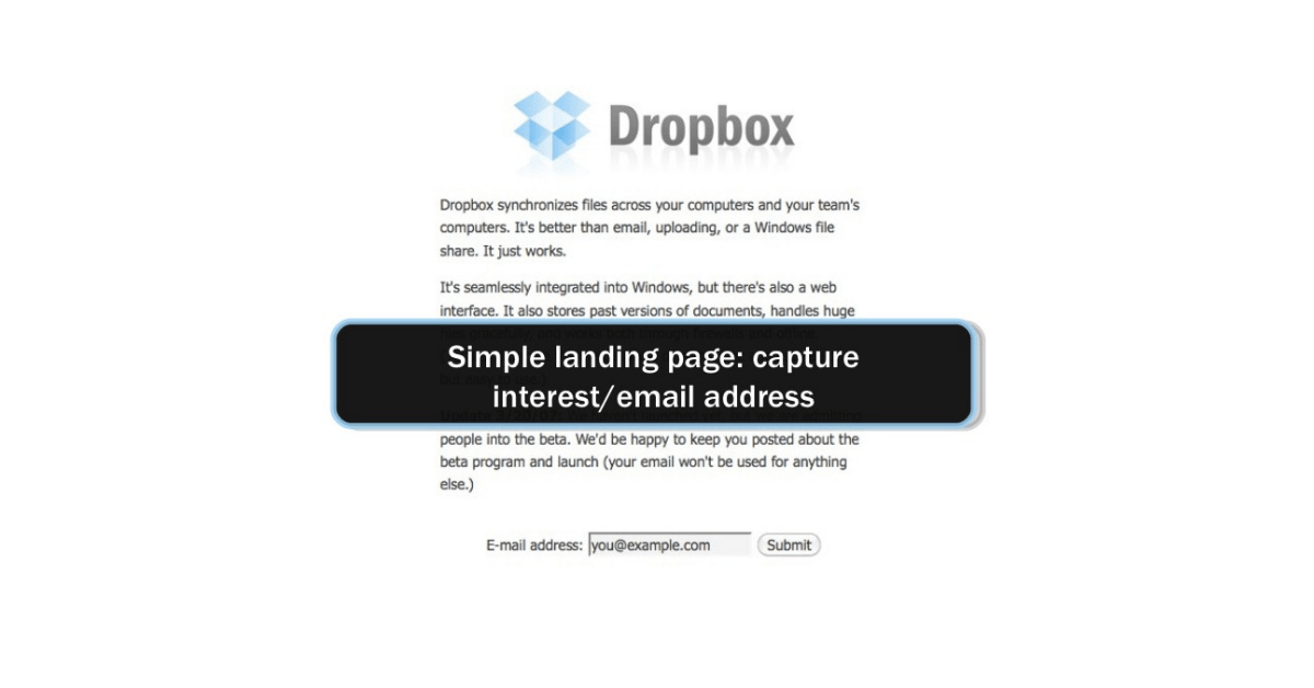 Dropbox email strategy