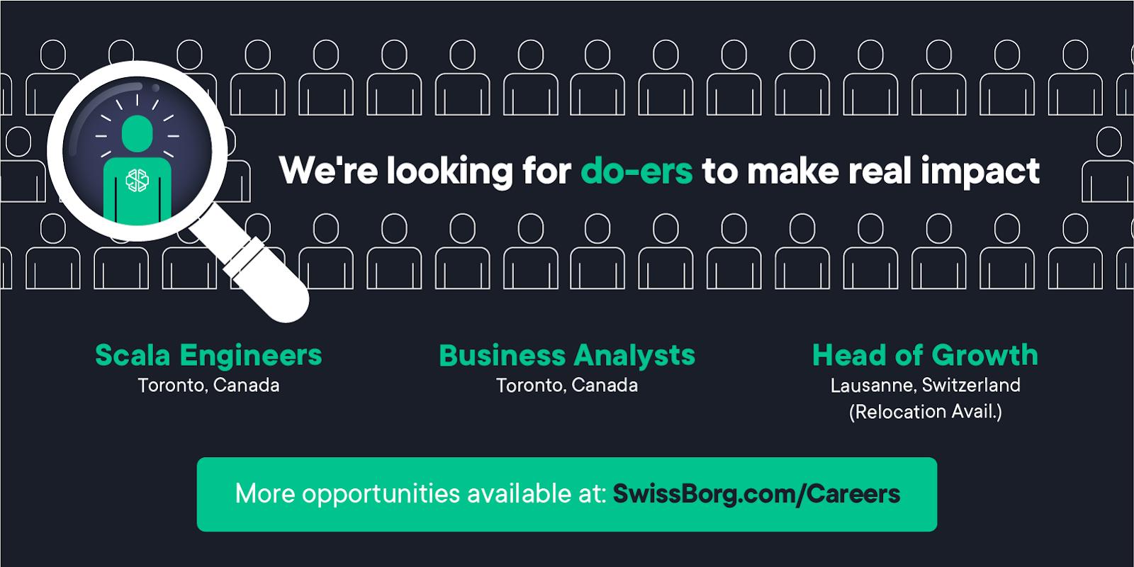 SwissBorg is hiring