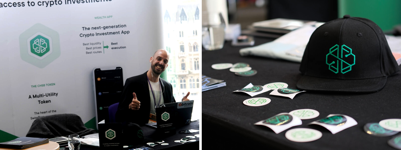 SwissBorg Booth at CC Forum 2019 in London