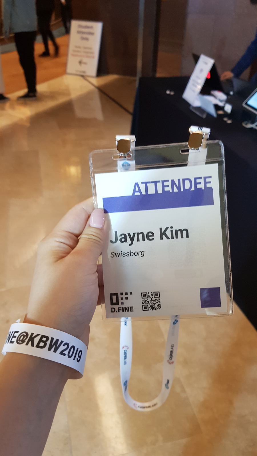 Jayne Kim from SwissBorg at Korea Blockchain Week