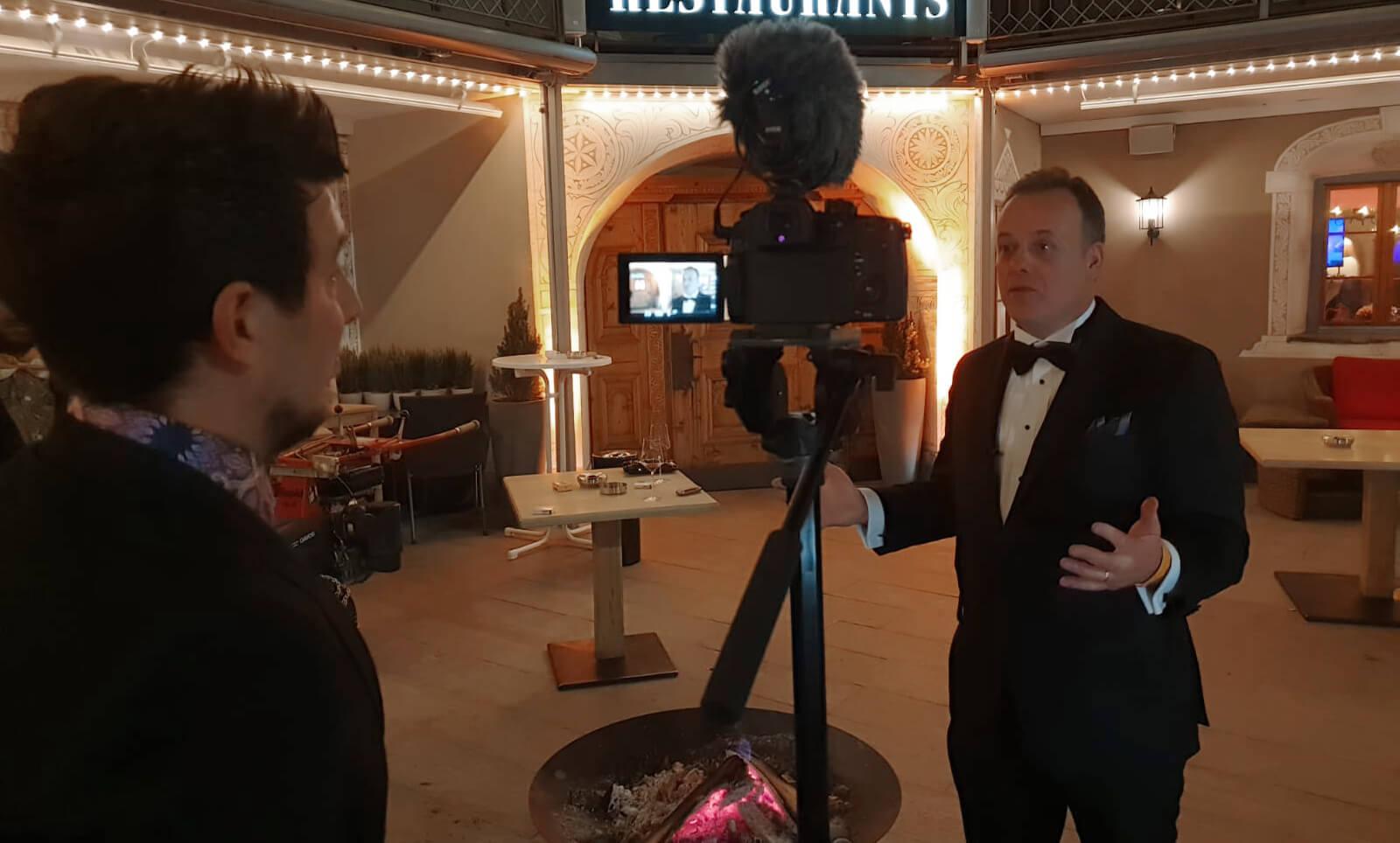 Alex fazel and Ron Garan interview at Davos