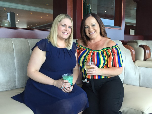 Emma Livermore and Vicky Bell on board Azamara Journey
