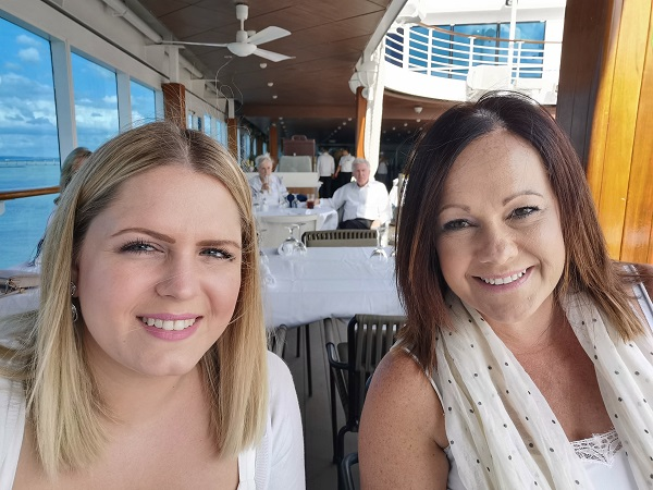 Emma Livermore and Vicky Bells Azamara Journey Restaurant