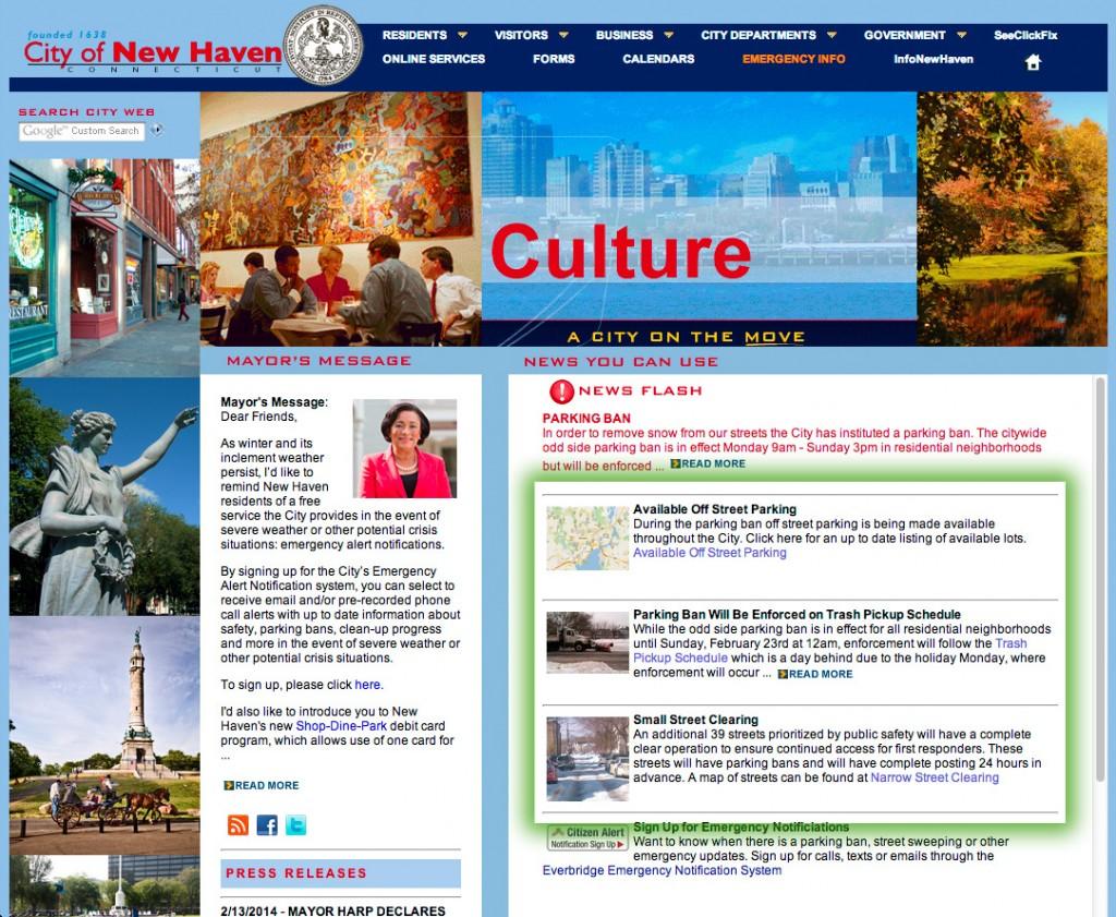City of New Haven Website