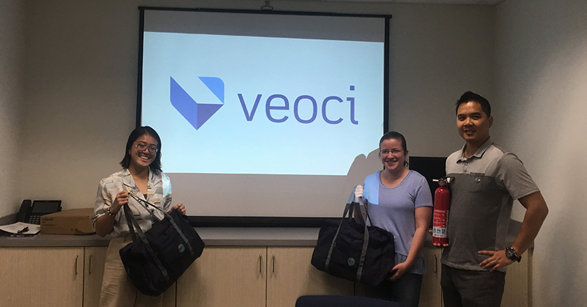 The winners of our National Preparedness Month quiz at Veoci.