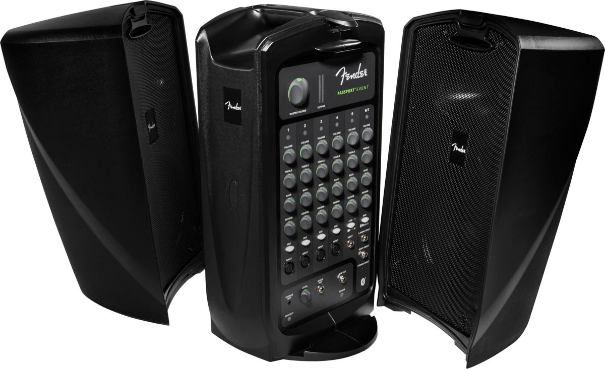 Fender PA system includes 2 speakers and a 7-channel mixer with 4 microphone inputs (Fun Services supplies 1 microphone). Customer supplies music if desired. Bluetooth compatible.