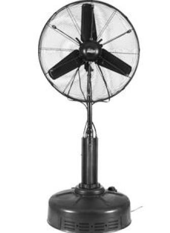 "Great for those hot summer days. Our 30"" mist fan holds it's own water so there is no need for hose hookups."