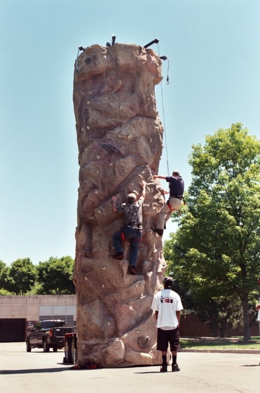 This 26' tall Anniversary Edition climbing wall comes with the most realistic texture available! Our Extreme Texture™ allows you to climb without hand holds and come molded off of real rock!