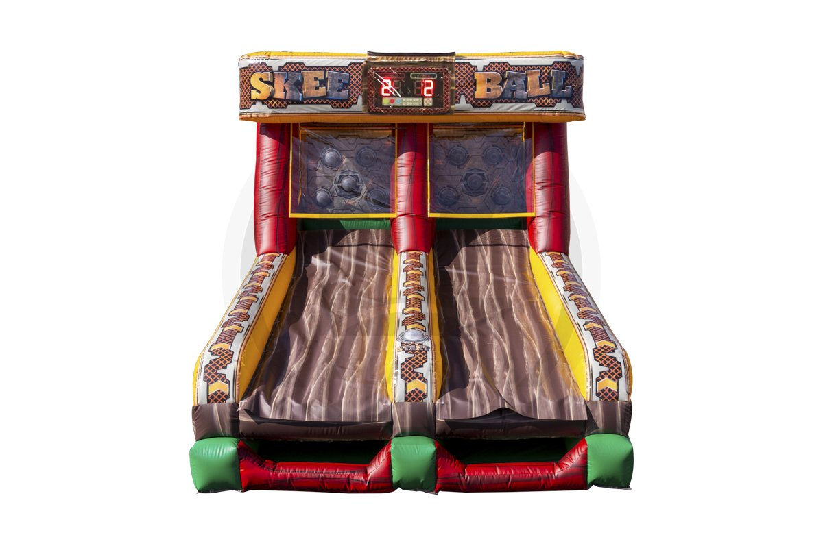 An inflatable version of the popular arcade game. Scoring is based on hitting flashing lights.