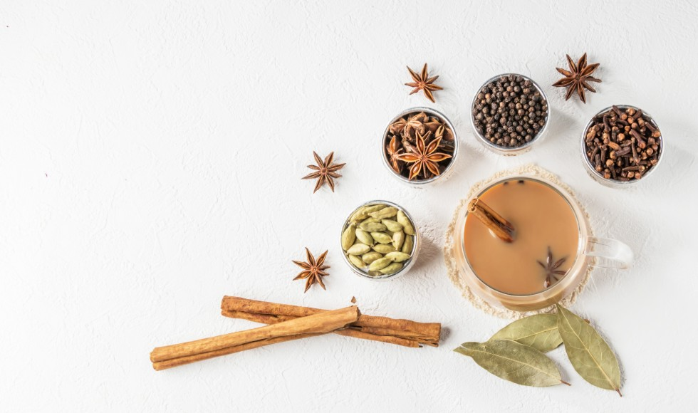 Wet chai ingredients