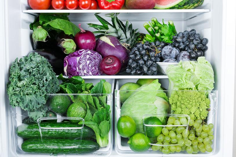 vegetables in fridge