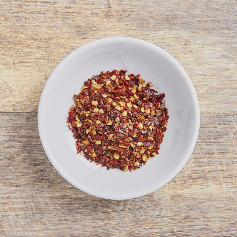 Chilli Flakes Red (10-15k SHU) Organic 15kg