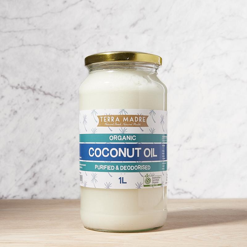 Coconut Oil Purified Organic 1L x4