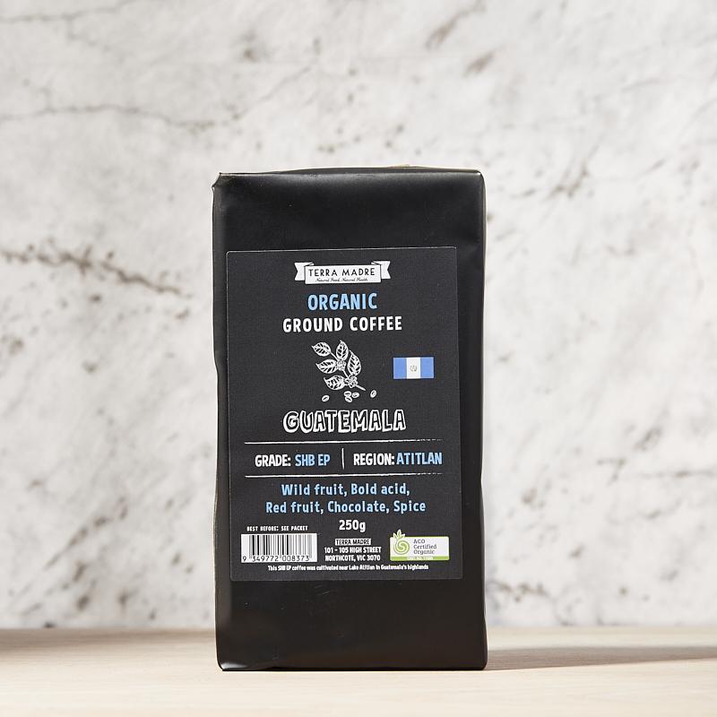 Coffee Ground Organic Guatemala 250grm x 8