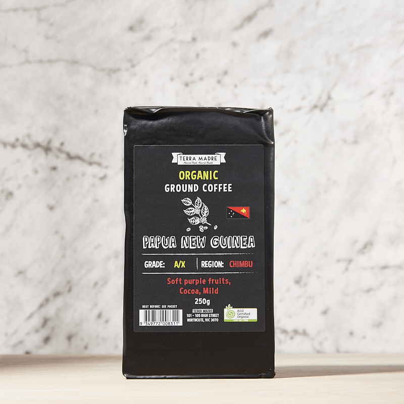 Coffee Ground Organic PNG 250grm x 8