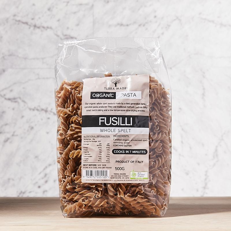 Fusilli Spelt Wholewheat 500g x 12