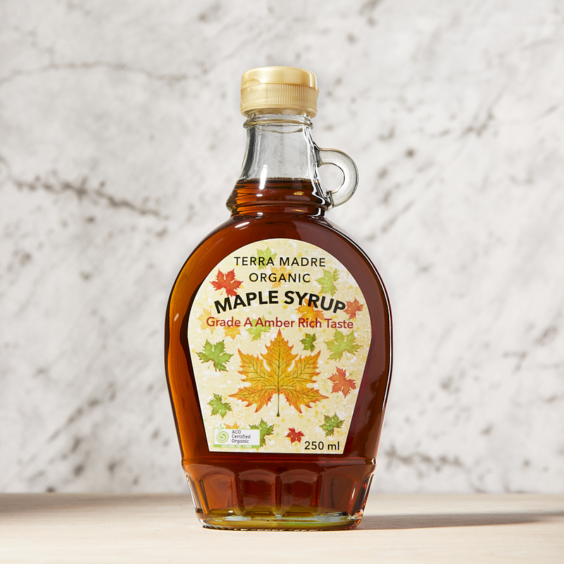 Maple Syrup Grade A Amber Organic 250 x12