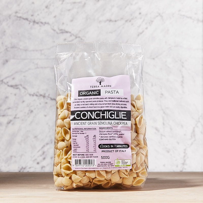 TM Conchiglie Ancient Grains with Chickpeas Org 12 x 500gm