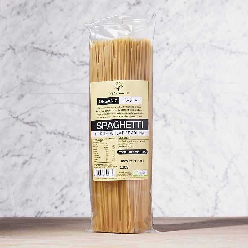TM Spaghetti Durum Wheat White Org Italy 12 x 500g