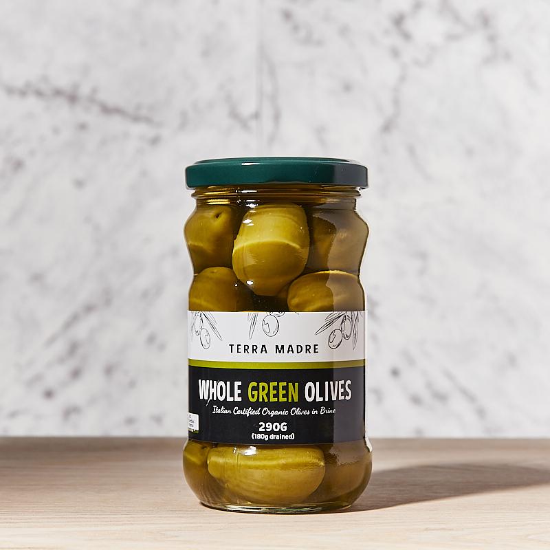 Olives Green Whole Brine Organic TM 12x290gm